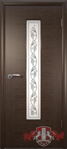 Дверь Владимирская фабрика дверей 8ДО4, цвет венге, остекленная