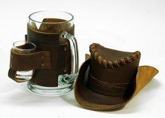 Сувенирная кружка Шериф, коричневая, фото 2