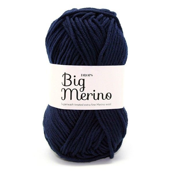 Пряжа  Drops Big Merino 17 темно-синий