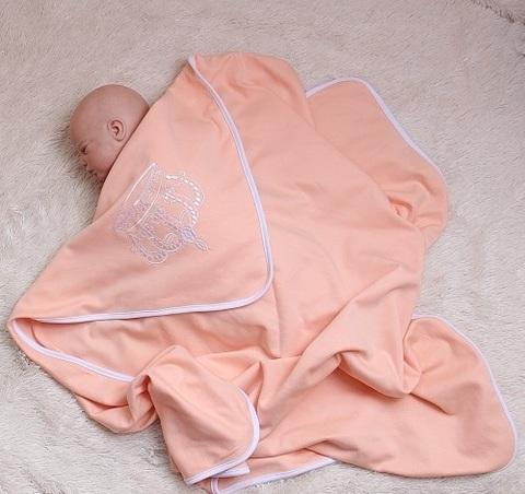 Плед для новорожденного Империя персик