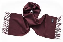 Шерстяной шарф, мужской темно-бордовый 17001