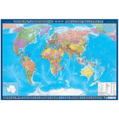 Настенная карта Мир политическая 1:25 млн