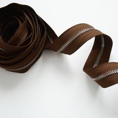 Молния металлическая №5, Шоколад, цена за 10 см.