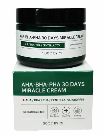 Крем с кислотами для проблемной кожи Some By Mi AHA BHA PHA 30 Days Miracle Cream