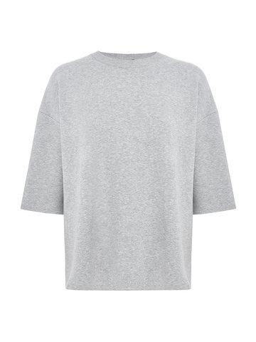 Женский джемпер серого цвета из вискозы - фото 1