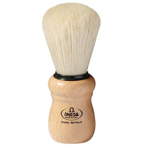 Помазок для бритья Omega натуральный кабан деревянная ручка 10005