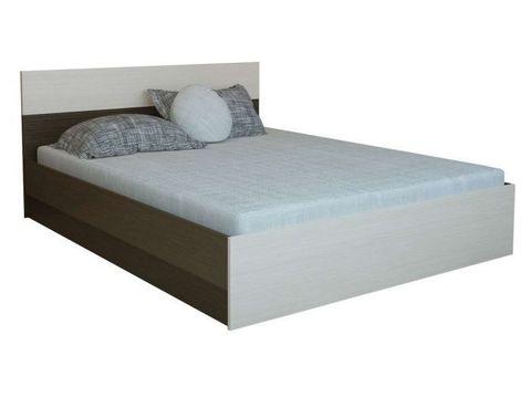 Кровать 1,6 Юнона ЛДСП ТЭКС венге/дуб молочный