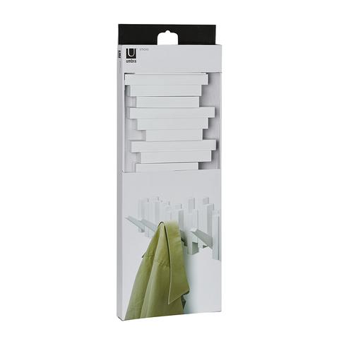 Вешалка настенная Sticks белая