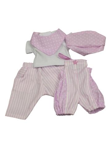 Комплект из хлопка - Сиреневый. Одежда для кукол, пупсов и мягких игрушек.