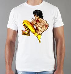 Футболка с принтом Брюс Ли (Bruce Lee) белая 0013