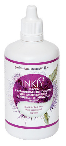 Inki Маска с кератином и пептидами для распрямления вьющихся и пушистых волос 100 мл купить за 650руб
