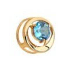 731346- Подвеска -бегунок из золота с голубым топазом