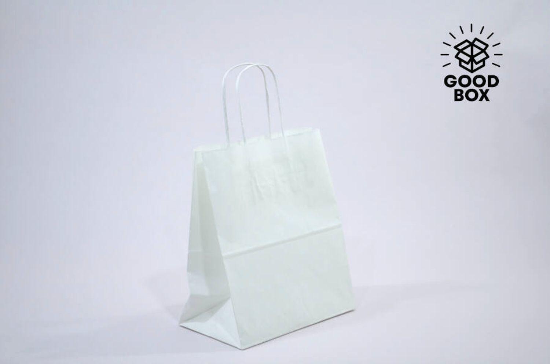 Крафт пакет белого цвета 310*195*340