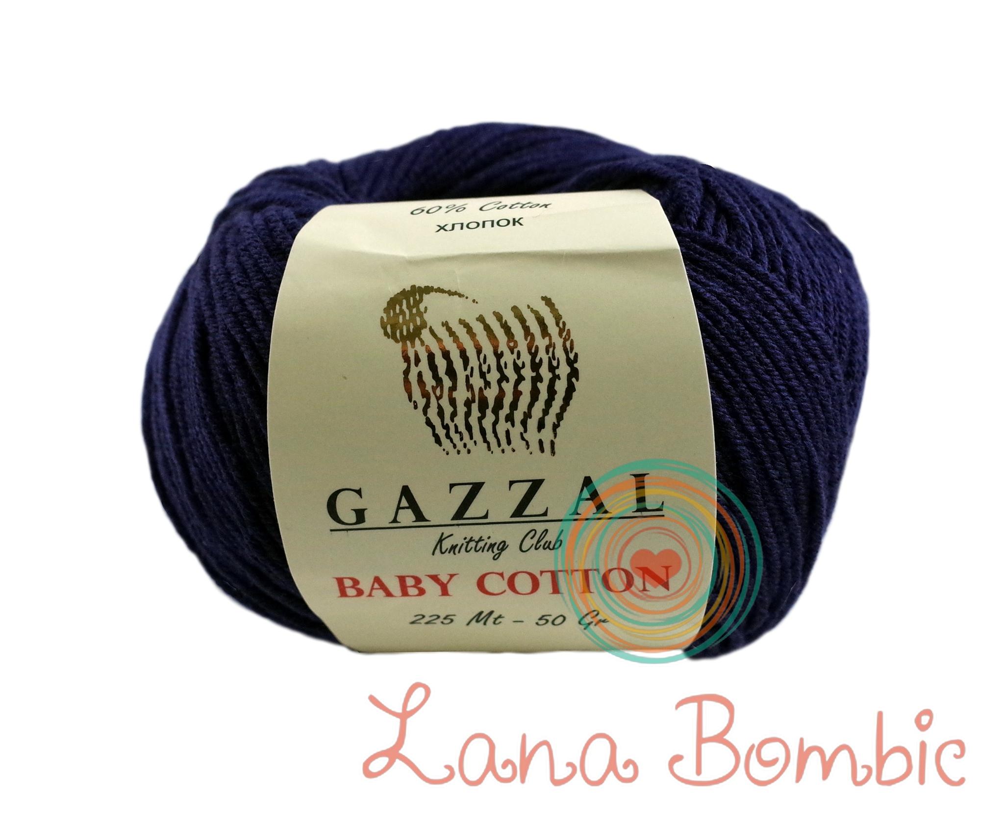 Пряжа Gazzal Baby Cotton 3438 темно-синий