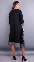 Адажио. Чарівна сукня великих розмірів. Чорний.