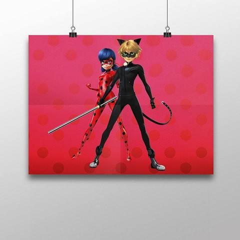 Плакат с Леди Баг и Супер Котом №6