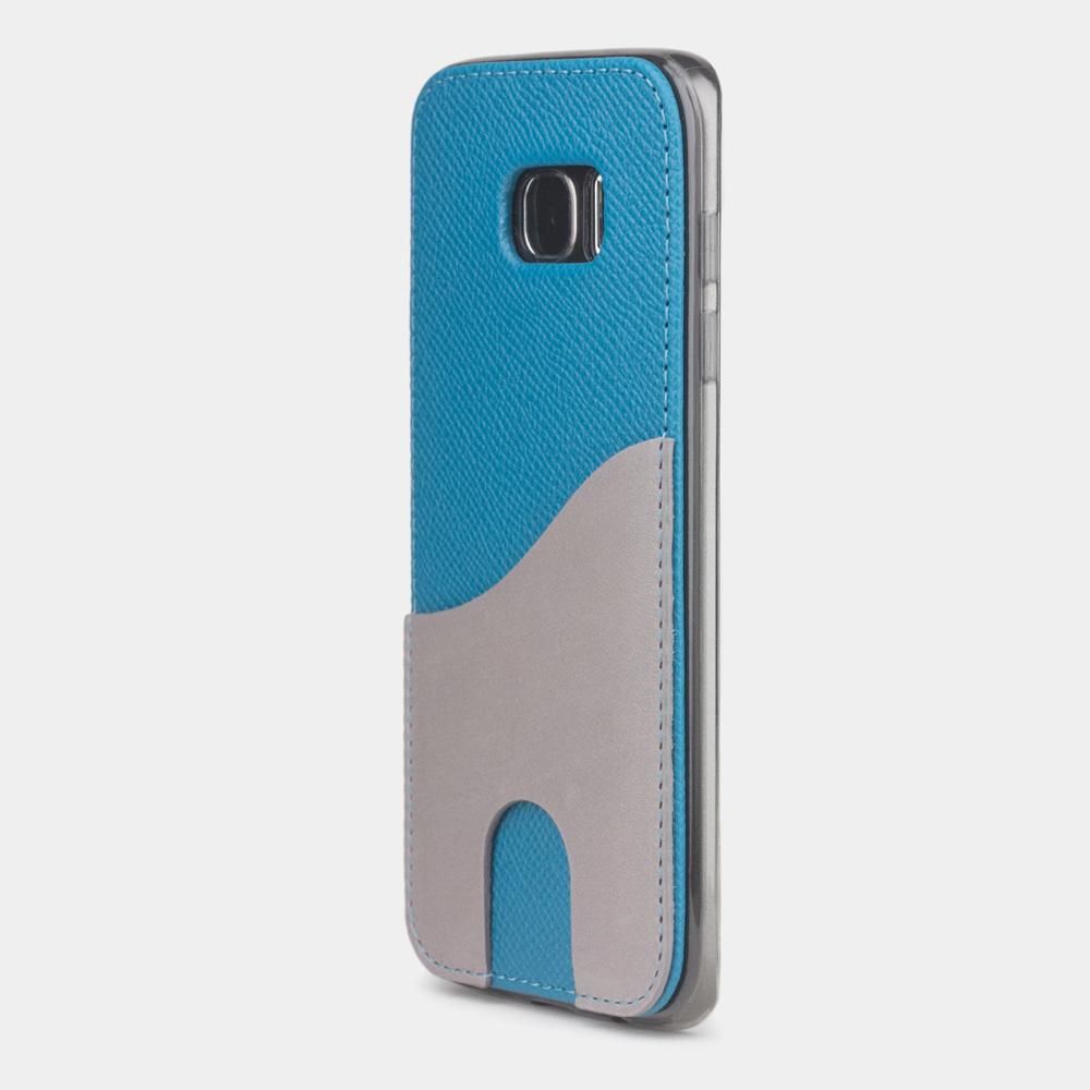 Чехол-накладка Andre для Samsung S7 edge из натуральной кожи теленка, морского цвета