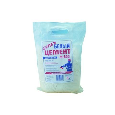Цемент белый ПЦ 600 (5кг)
