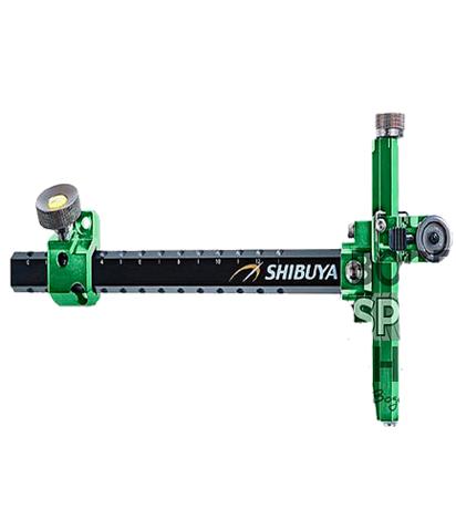 Прицел для лука спортивного Shibuya Sight 485-9 Ultima II RC Recurve Carbon Green