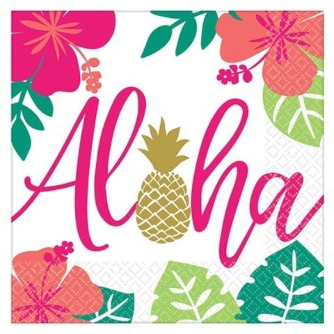 Салфетка ALOHA Фламинго 25см 16шт