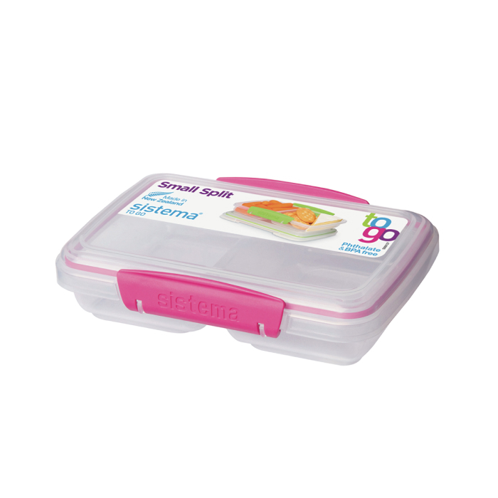 """Контейнер пищевой Sistema """"TO GO"""", двойной, 350 мл, цвет Розовый"""