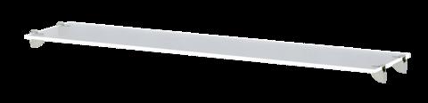 Полка стеклянная Виктория 38 Ижмебель белый глянец