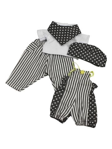 Комплект из хлопка - Черный. Одежда для кукол, пупсов и мягких игрушек.