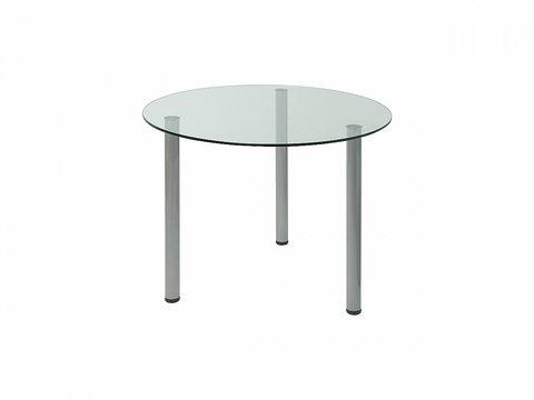 Стол обеденный круглый Oss (Прозрачный)
