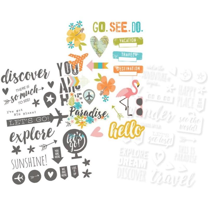 Ацетатные стикеры You are HERE! Simple stories