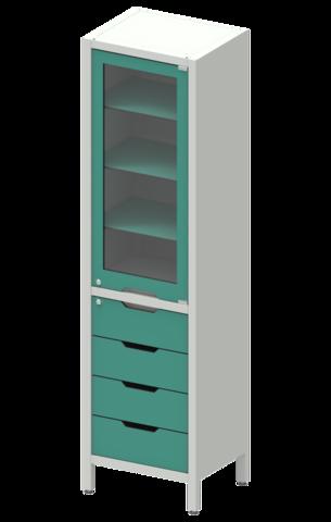 Шкаф лабораторный ШКа-1 АйЛаб Organizer (вариант 7) - фото