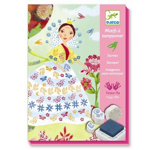 Djeco. Набор штампов Девушки с цветами