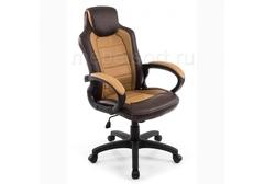 Компьютерное кресло Кадис (Kadis) коричневое / бежевое