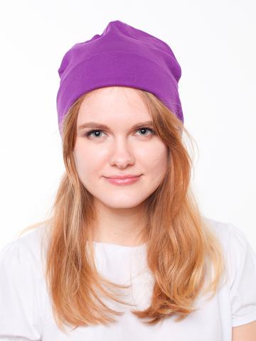 Фиолетовая шапочка бини из 100% хлопка