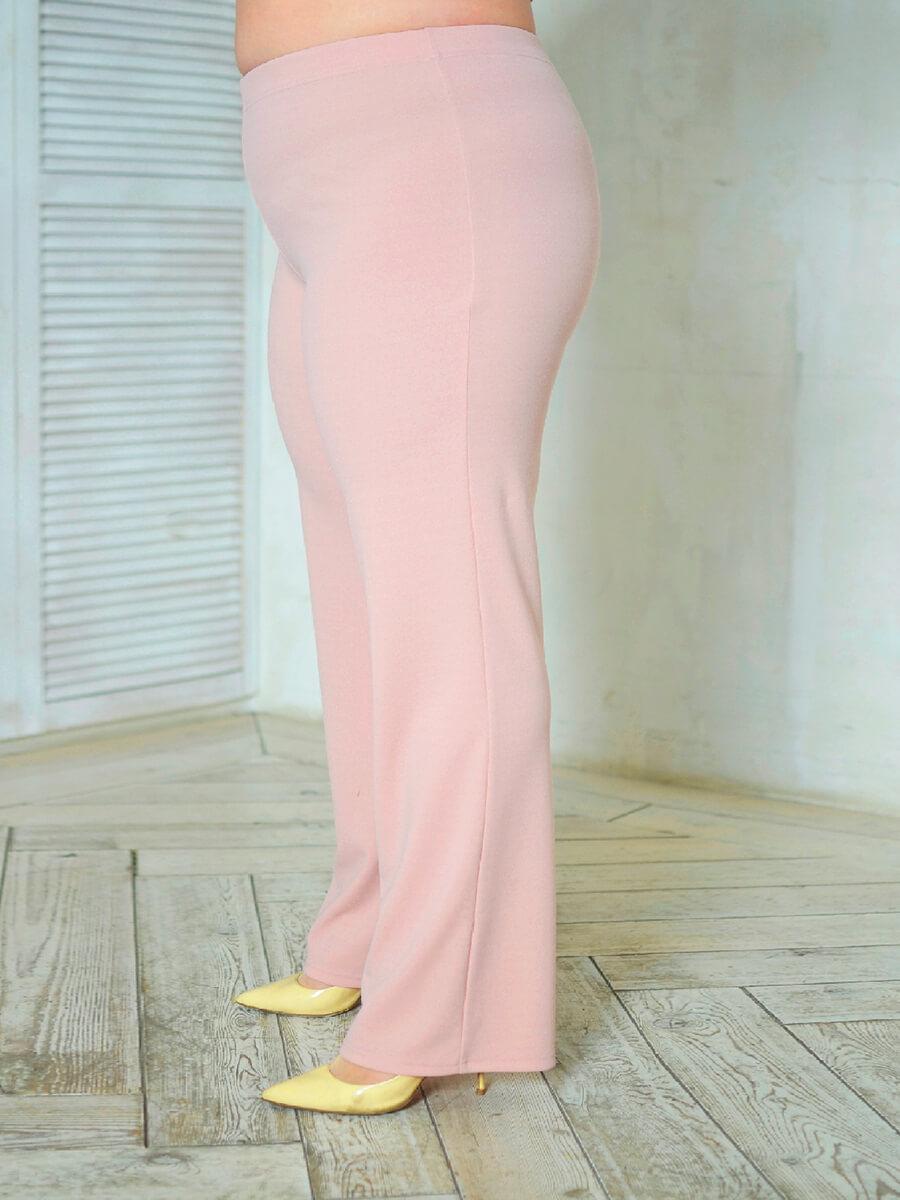 Розовые брюки большого размера