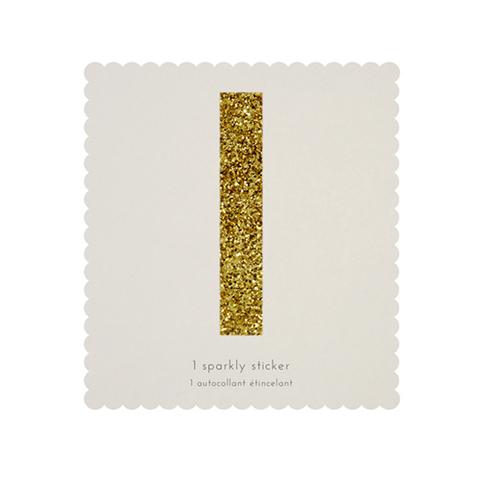 Стикер I, мерцающее золото