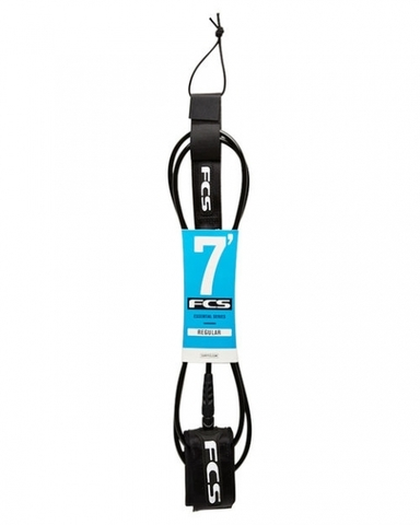 Лиш FCS 7' Regular Leash (7mm) Black