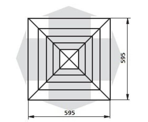 4VA 600*600мм пластиковая решетка