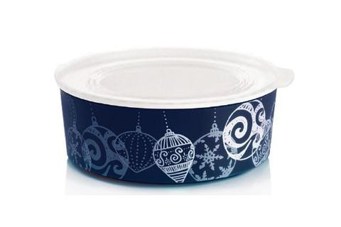 Акваконтроль круглый Новогоднее украшение (1,5 л) в темно синем цвете