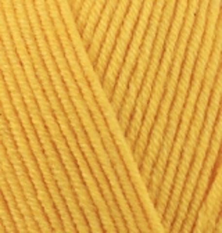 Пряжа Cotton gold (Alize) 216 Темно-желтый, фото
