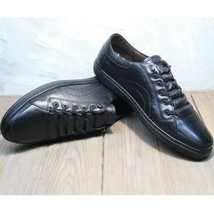 Кожаные кроссовки мужские демисезонные Novelty 5235 Black