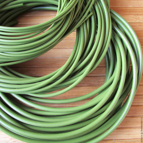 Рукав флористический, внутренний диаметр 6-7 мм*10м, Цвет зеленый.