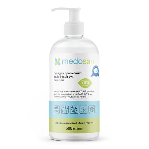 Антисептик гель для професійної дезінфекції рук і тіла Medosan 500 мл (1)