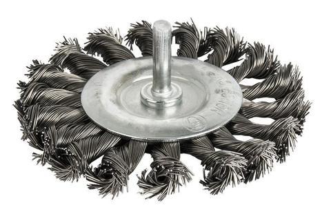 Кордщетка для дрели радиальная витая ПРАКТИКА  75 мм, хвост 6 мм (242-694)