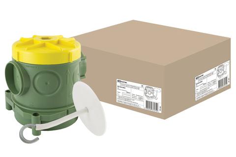 Установочная коробка СП 82х80х90,5мм, крюк для люстры, гайка, для заливки в бетон, TDM
