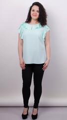 Руна. Ніжна блуза великого розміру. М'ята.