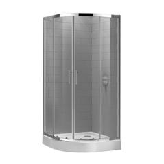 Душевой уголок 90x90x190 см с раздвижными дверями Cezares Eco ECO-O-R-2-90-P-Cr фото