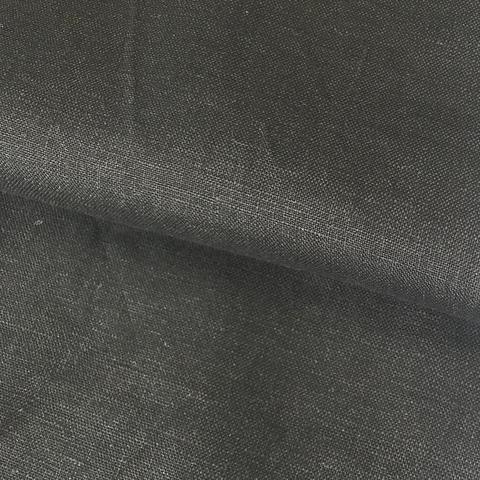 Ткань лен черный 3149