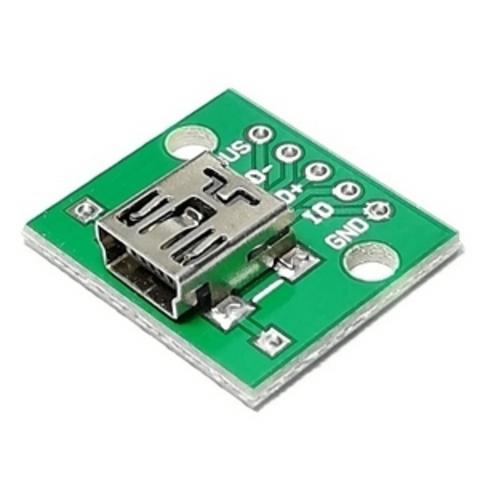Адаптер mini USB 2.0 B гнездо - DIP2.54-5P