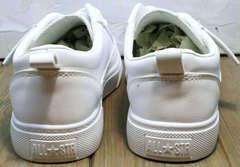 Женские спортивные туфли кроссовки повседневные El Passo 820 All White.