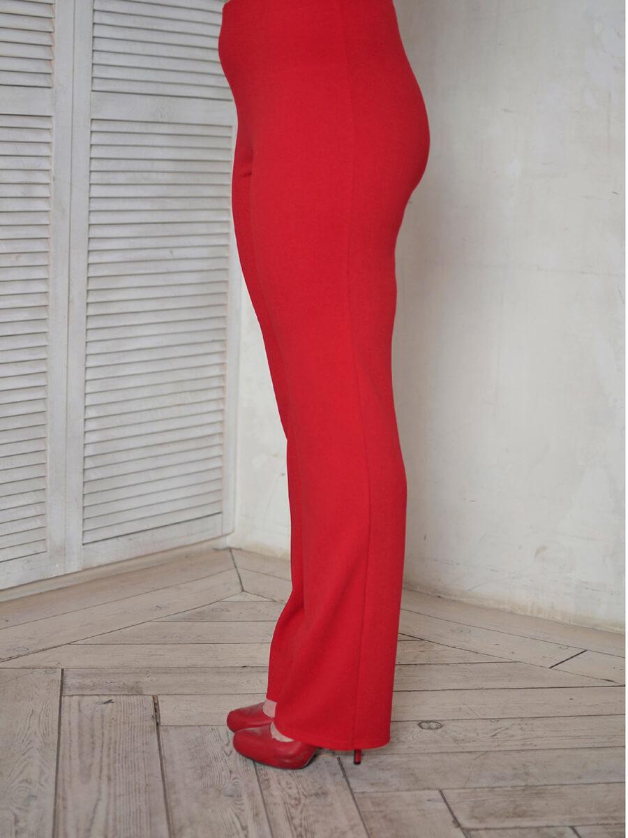 Красные брюки большого размера